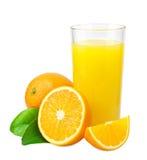 Zumo y naranjas de naranja imagenes de archivo