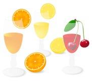 zumos de fruta Imagen de archivo libre de regalías