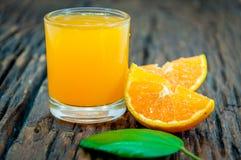 Zumos de naranja Fotografía de archivo libre de regalías