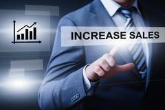 Zunahme-Verkäufe wachsen Gewinn-Erfolgs-Geschäfts-Technologie-Konzept stockfotos