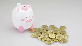 Zunehmende GeldZeitspanne stock video footage