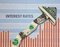 Zunehmende Zinssätze Stockfotos
