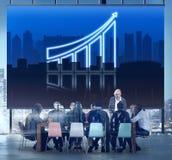 Zunehmendes Geschäfts-Diagramm-Diagramm-Daten-Konzept Lizenzfreie Stockfotos