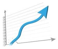 Zunehmenpfeilabbildung Lizenzfreie Stockbilder