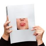 Zunge, die heraus haftet Lizenzfreie Stockfotografie