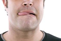 Zunge heraus haften Stockfotos