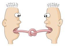 Zungen banden Stockbild