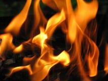 Zungen der Flamme Stockbild