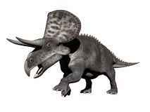 Zuniceratops-Dinosaurier - 3D übertragen Lizenzfreie Stockbilder