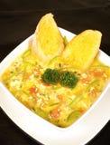 zupa jajeczna zdjęcie royalty free