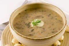 zupa pieczarkowa Zdjęcia Royalty Free