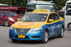 Zupackentaxi Meter chiangmai, Nissan Sylphy Stockfoto