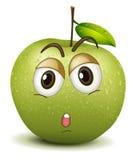 Zupełnie jabłczany smiley Zdjęcia Stock
