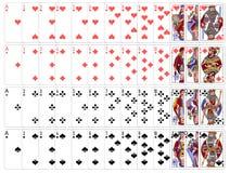 Zupełny karta do gry gry set ilustracja wektor