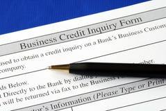 zupełny kredyta formy śledztwo Obraz Royalty Free