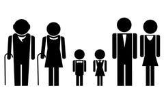 zupełna rodzina Obrazy Royalty Free