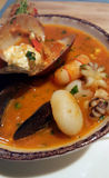 Zupetta seafood soup Royalty Free Stock Photography