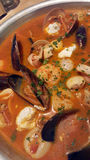 Zupetta seafood soup Stock Photos