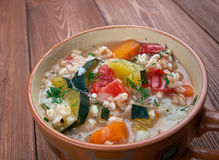 Zuppa d'orzo Stock Image