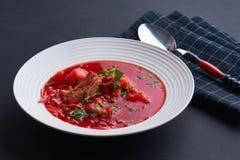 Zuppa di barbabietola/Borscht Immagini Stock