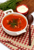 Zuppa di barbabietole Fotografia Stock Libera da Diritti