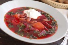 Zuppa di barbabietole ucraina Fotografia Stock
