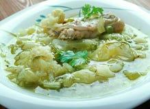 Zuppa di cavolo Fotografia Stock