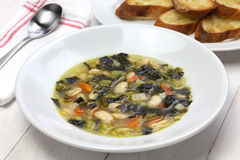 Zuppa di cavolo nero, black kale soup Stock Images