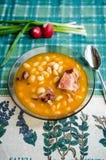 Zuppa di fagioli Fotografia Stock