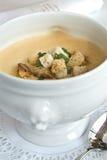 Zuppa di fagioli bianchi Immagini Stock
