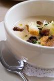 Zuppa di fagioli bianchi Fotografia Stock