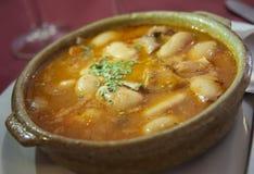 Zuppa di fagioli bianchi Immagine Stock