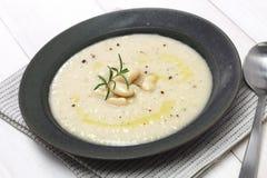 Zuppa di fagioli bianco panna toscana immagine stock