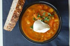 Zuppa di fagioli calda Fotografia Stock