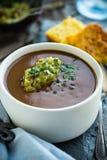 Zuppa di fagioli neri Fotografie Stock
