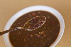 Zuppa di fagioli neri Immagine Stock Libera da Diritti