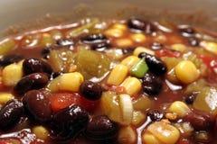 Zuppa di fagioli neri grandangolare Immagine Stock Libera da Diritti