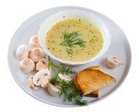 Zuppa di fungo. immagini stock