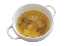 Zuppa di fungo in ciotola Fotografie Stock
