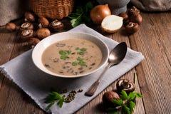 Zuppa di fungo cremosa fotografia stock