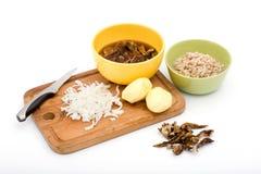 Zuppa di fungo: ingredienti immagini stock