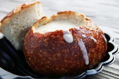 Zuppa di molluschi e latte - popolare in minestra della cozza di San Francisco immagini stock libere da diritti