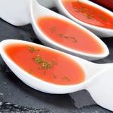 Zuppa di verdure fredda spagnola Fotografia Stock Libera da Diritti