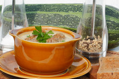 Zuppa di zucchine Fotografia Stock Libera da Diritti