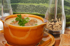 Zuppa di zucchine Fotografia Stock