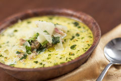 Zuppa Toscana Sausage and Kale Soup Royalty Free Stock Photos