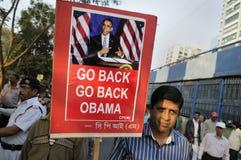 Zurück gehen Barak Obama Lizenzfreie Stockbilder