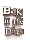 Zurück am Tag Lizenzfreies Stockfoto