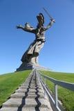 Zurück vom Denkmal Mutterland in Wolgagrad Lizenzfreie Stockbilder