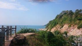 Zurück vom Hügel Nangpaya Stockbild